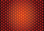 Wallpaper with skulls for you background,textiles etc poster