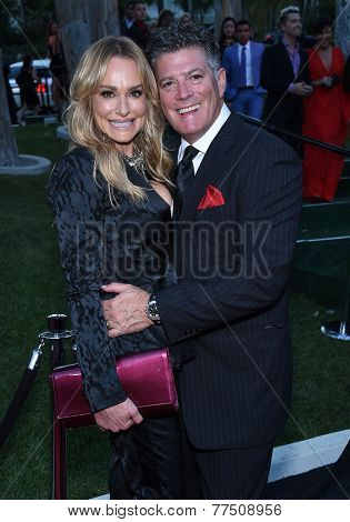 LOS ANGELES - SEP 13:  Taylor Armstrong & John Bluher arrives to Brent Shapiro Foundation Summer Spectacular 2014  on September 13, 2014 in Los Angeles, CA