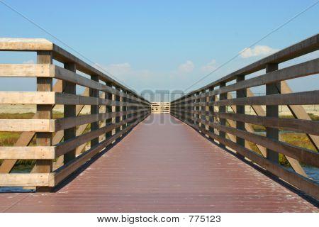 wooden bridge or path