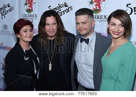 LOS ANGELES - SEP 13:  Sharon Orbourne, Ozzy Osbourne, Jack Osbourne & Lisa Stelly arrives to Brent Shapiro Foundation Summer Spectacular 2014  on September 13, 2014 in Los Angeles, CA