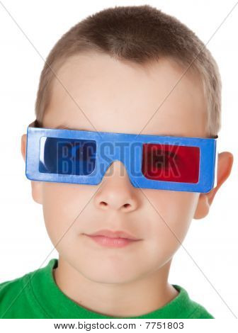 Young Boy With 3D Glasses