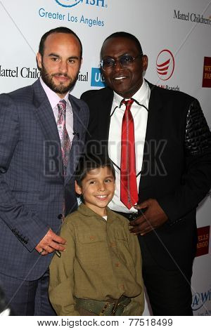LOS ANGELES - DEC 3:  Landon Donovan, Jacob Angel, Randy Jackson at the Make-A-Wish Foundation at the Beverly Wilshire Hotel on December 3, 2014 in Beverly Hills, CA