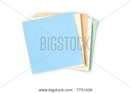 Hinweis Papers auf weißem Hintergrund