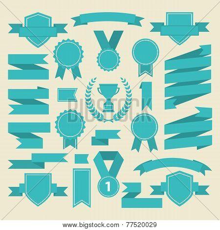 Marine color ribbons and award icons