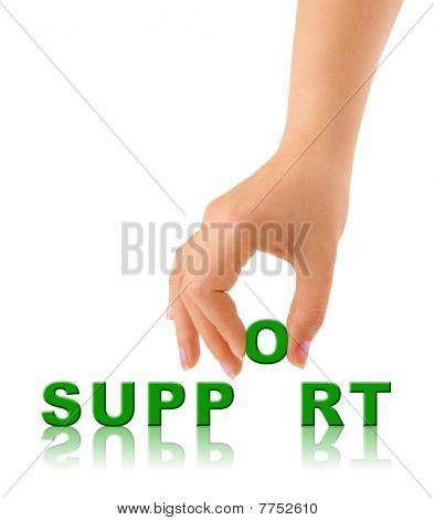 Hand And Word Support