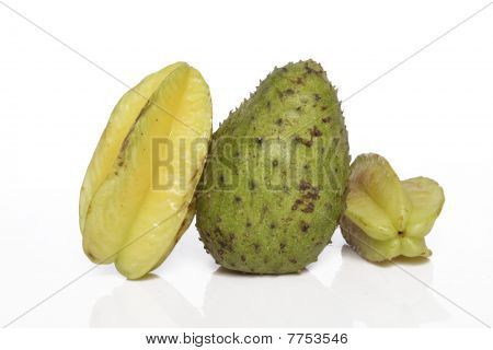sour sop and star fruit