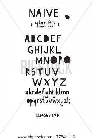 Paper cut out font