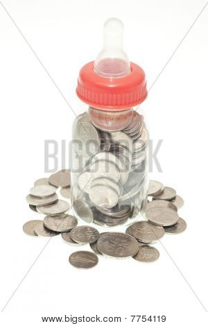 Malaysia Coins In Baby Bottle