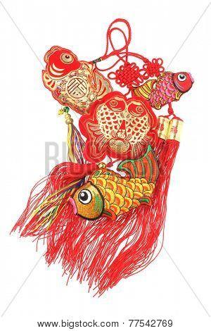 Chinese New Year Auspicious Fish Ornaments - Abundant Surplus
