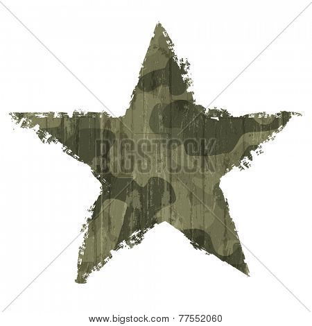 Camouflage star symbol. Raster version