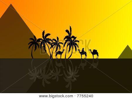Egypt, piramids and desert