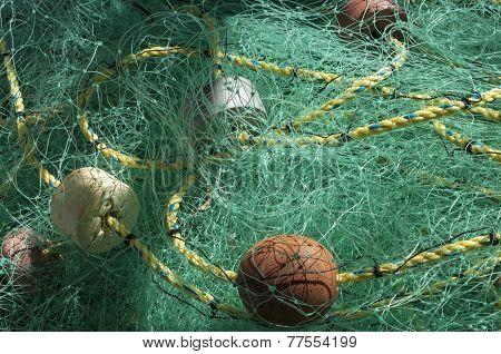 Tangled Fishing Net