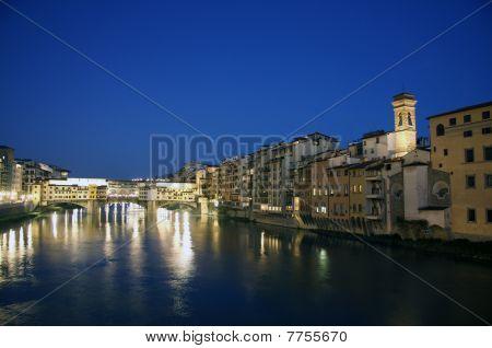 Florence, POnte Vecchio at night