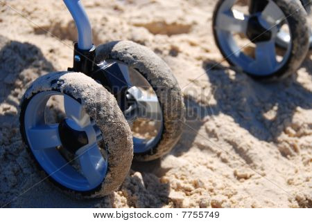 Sand On Baby Stroller Wheels
