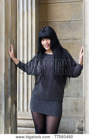 woman wearing mini dress