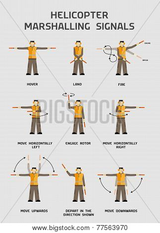 Helicopter Marshalling Signals