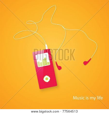 MP3 Music Player - Vector. eps 10 poster