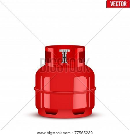 Propane Gas small cylinder. Vector Illustration