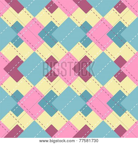 Vector Abstract Checkered Pattern