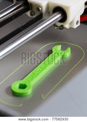 3D Printing With Light Green Filament