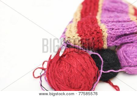 Woolen Yarns And  Needle Knitting