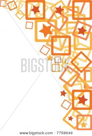 abstract orange ornaments