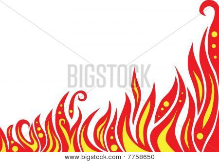 abstract red flame