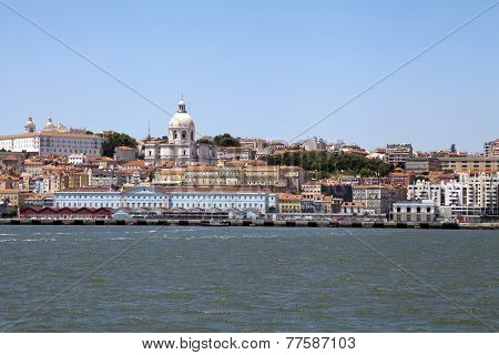 View Of Lisbon From Tagus River