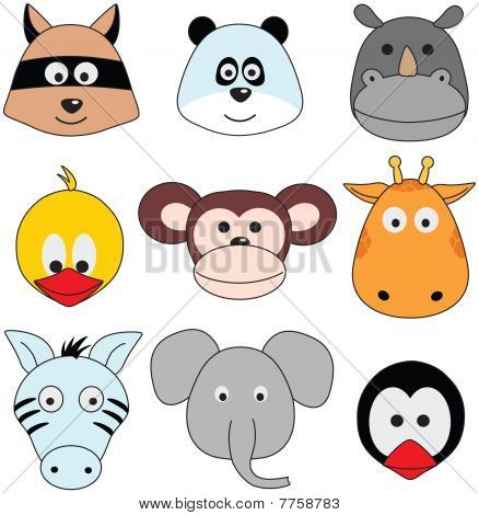 funny animals - vector