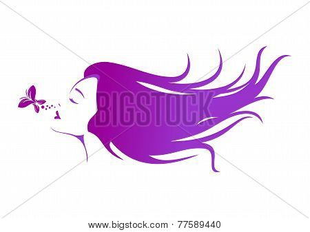 Natural women skin care and beauty hair logo