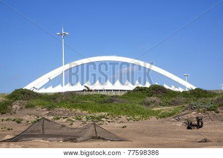 Moses Mabhida Stadium Rising Above Dunes At Durban