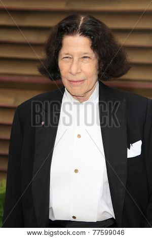 LOS ANGELES - MAR 2:  Fran Lebowitz at the 2014 Vanity Fair Oscar Party at the Sunset Boulevard on March 2, 2014 in West Hollywood, CA