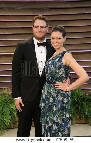 LOS ANGELES - MAR 2:  Seth Rogan at the 2014 Vanity Fair Oscar Party at the Sunset Boulevard on March 2, 2014 in West Hollywood, CA