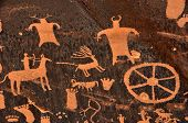 Ancient Indian Petroglyph at Newspaper Rock in Southern Utah poster