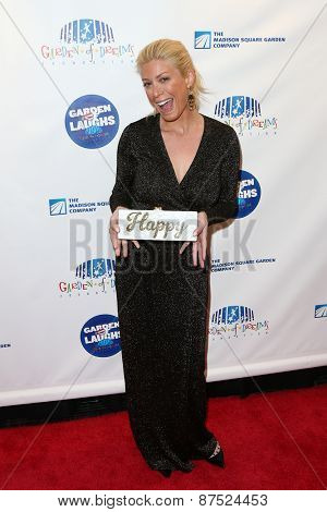 NEW YORK-MAR 28: TV personality Jill Martin attends the 2015 Garden Of Laughs Comedy Benefit at the Club Bar and Grill at Madison Square Garden on March 28, 2015 in New York City.