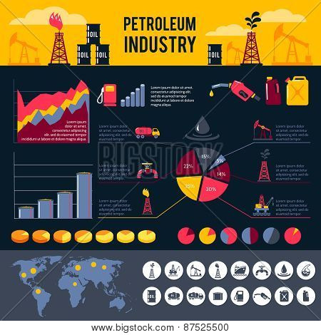 Petroleum Infographics Set