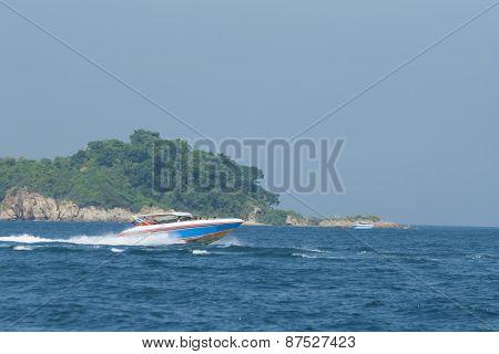 Motor boat in Thailand