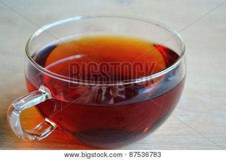 Cup of black earl grey tea