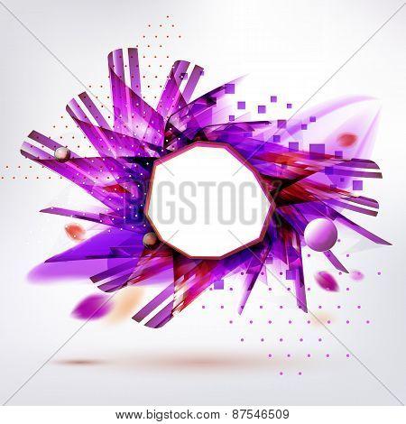 Purple Geometric Form Modern Style Sticker
