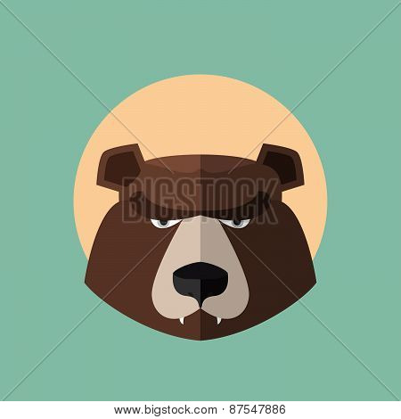 big brown bear. Vector illustration