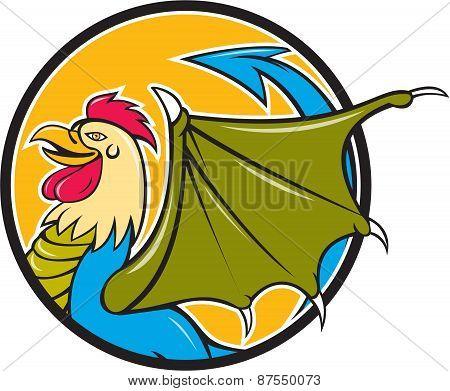 Basilisk Bat Wing Circle Cartoon