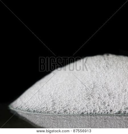 Soap Foam On Black