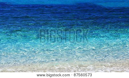 clear blue sea, texture, transparent water