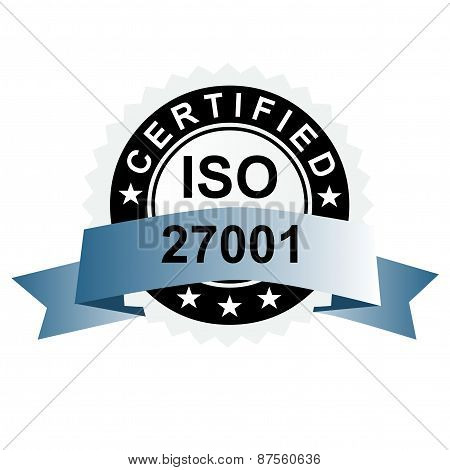 ISO certified emblem ISO stamp quality symbol poster
