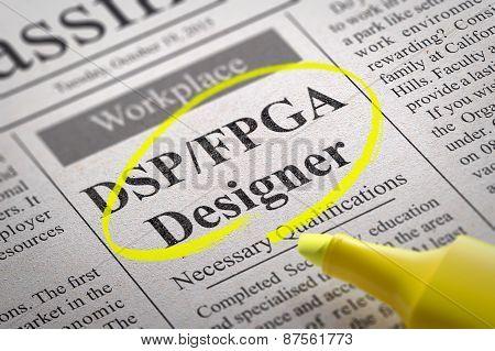 DSP, FPGA Designer Jobs in Newspaper.