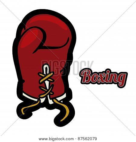 boxing label design vector illustration eps10 graphic
