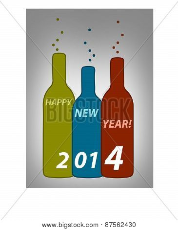 Happy New Year Bottles