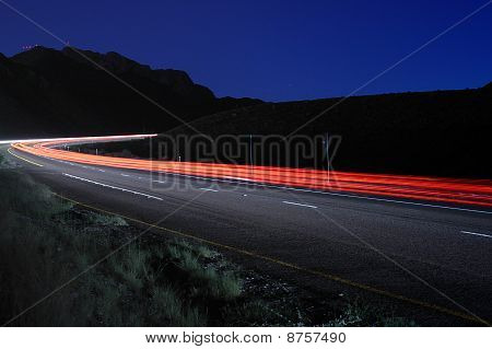 Curve in Mountain Road