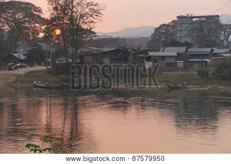 Pastel Sunset  Dokthawaddy River