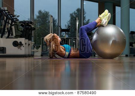 Mature Woman Doing Abdominal Excerise